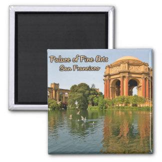 Palacio de las bellas arte San Francisco Californi Imán Cuadrado