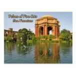 Palacio de las bellas arte San Francisco Tarjeta Postal