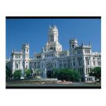 Palacio de las comunicaciones de Madrid Postal