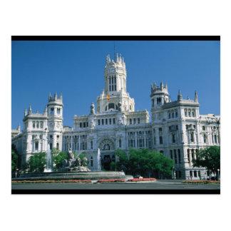 Palacio de las comunicaciones de Madrid Tarjetas Postales