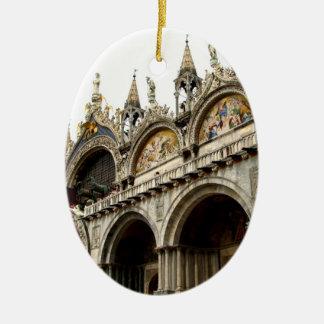 Palacio de los duxes adorno ovalado de cerámica