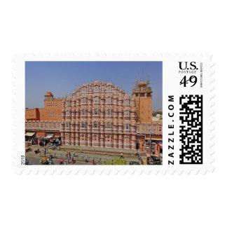 Palacio de los vientos (Hawa Mahal), Jaipur, la Estampillas