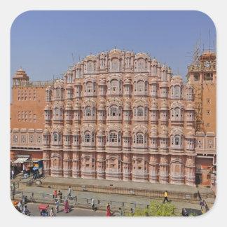 Palacio de los vientos (Hawa Mahal), Jaipur, la Pegatina Cuadrada