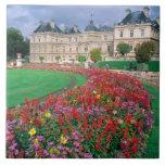 Palacio de Luxemburgo en París, Francia Azulejo Cuadrado Grande