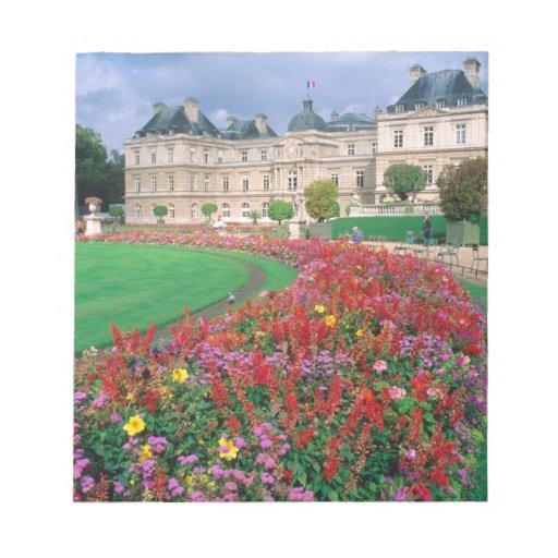 Palacio de Luxemburgo en París, Francia Bloc De Notas