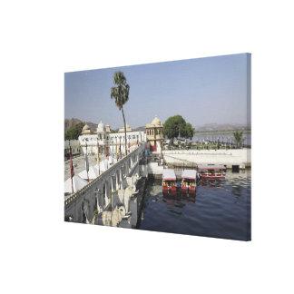 Palacio de Mindar de la punta, lago Pichola, Udaip Impresión En Lona