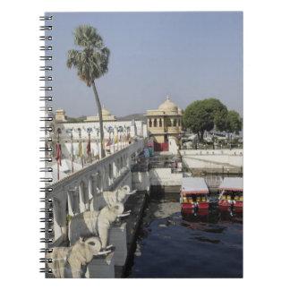 Palacio de Mindar de la punta, lago Pichola, Udaip Note Book