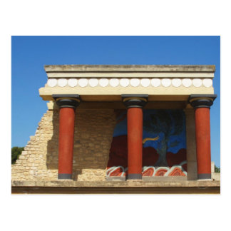 Palacio de Minoan de Knossos Tarjeta Postal