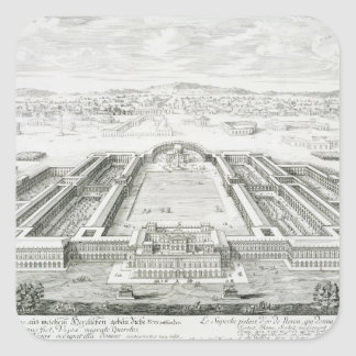 Palacio de oro del emperador Nero (ANUNCIO 54-68), Pegatina Cuadrada