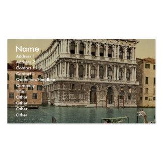 Palacio de Pesaro obra clásica Photochrom de Vene Plantillas De Tarjetas Personales