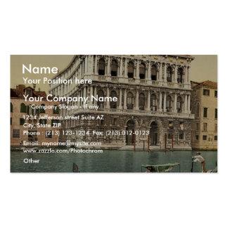 Palacio de Pesaro obra clásica Photochrom de Vene Plantilla De Tarjeta De Visita