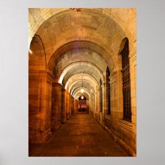 Palacio de Raxoi en Santiago de Compostela, España Impresiones
