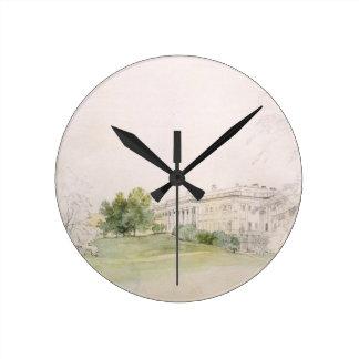 Palacio de Razumovsky (lápiz y w/c) Reloj Redondo Mediano