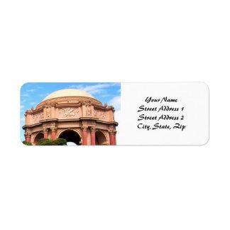 Palacio de San Francisco de bellas arte Etiqueta De Remite