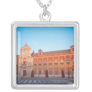 Palacio de Telmo in Seville, Spain seat of Square Pendant Necklace