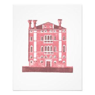 Palacio de Venecia, de un linocut original Fotografía