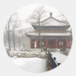 Palacio de verano viejo de Pekín Pegatina Redonda