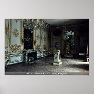 Palacio de Versalles, la sala de estar del reloj,  Posters