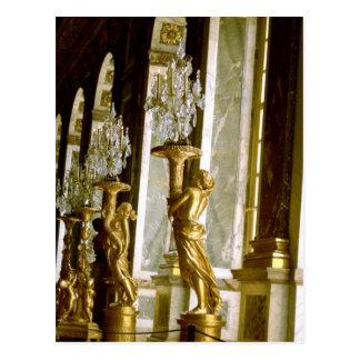 Palacio de Versalles Pasillo de la estatua de oro Tarjetas Postales