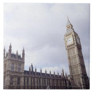 Palacio de Westminster y de Big Ben Azulejo Cuadrado Grande