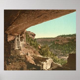 Palacio del acantilado del Mesa Verde Póster