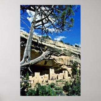 Palacio del acantilado - parque nacional del Mesa  Póster