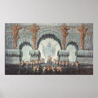 Palacio del agua de Muehleborn Póster