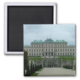 Palacio del belvedere imán cuadrado