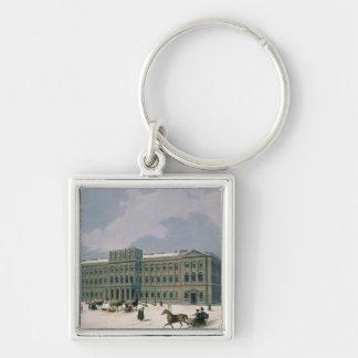 Palacio del duque magnífico de Leuchtenberg Llavero Cuadrado Plateado