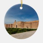 Palacio del EL Badi, Marrakesh, Marruecos Adorno Navideño Redondo De Cerámica