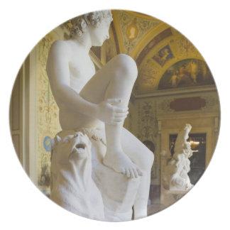 Palacio del invierno, museo de ermita, galería de  platos para fiestas