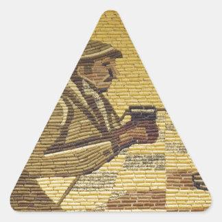 Palacio del maíz pegatina triangular