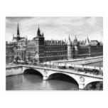 Palacio del Paris Photo del vintage de la justicia Tarjetas Postales