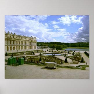 Palacio del poster del jardín de Versalles