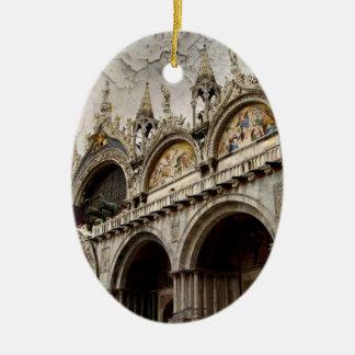 Palacio II de los duxes Adorno Ovalado De Cerámica