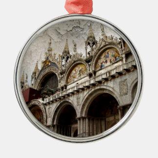 Palacio II de los duxes Adorno Redondo Plateado