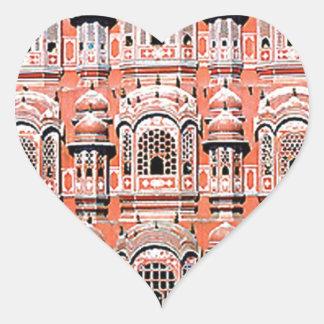 palacio la India de Jaipur Pegatina En Forma De Corazón