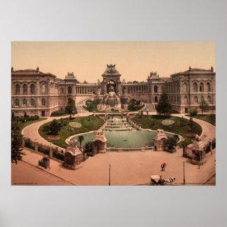 Palacio Longchamps, Marsella, Francia Póster