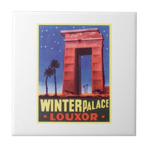 Palacio Luxor del invierno Azulejo Cuadrado Pequeño