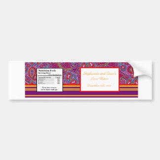 Palacio púrpura la India de la etiqueta de la bote Pegatina Para Auto