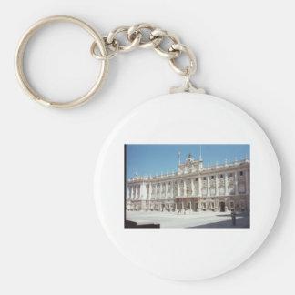 Palacio Real, Madrid Basic Round Button Keychain
