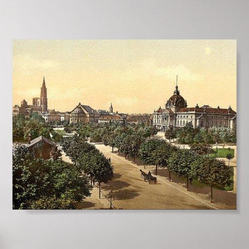 Palacio, teatro y catedral imperiales, Alsacia Lor Impresiones