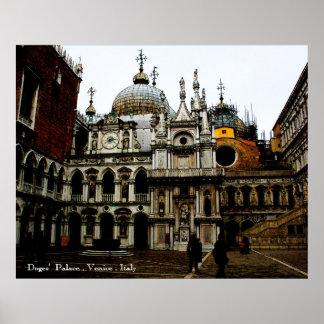 Palacio Venecia Italia de los duxes Poster