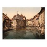 Palacio y canal viejos, Annecy, Francia Postales