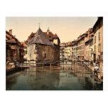 Palacio y canal viejos, foto de la obra clásica de postales