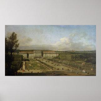 Palacio y jardines, 1759-61 de Schonbrunn Póster