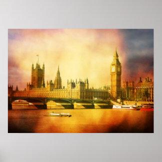 Palacio y puente de Westminster Posters