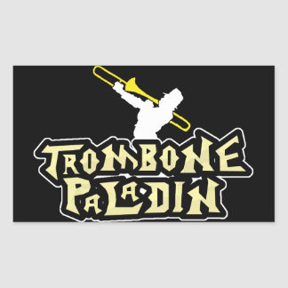 paladín del trombone de la parodia del videojuego rectangular altavoz