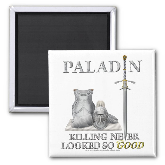 Paladin: Killing Never Looked So Good 2 Inch Square Magnet