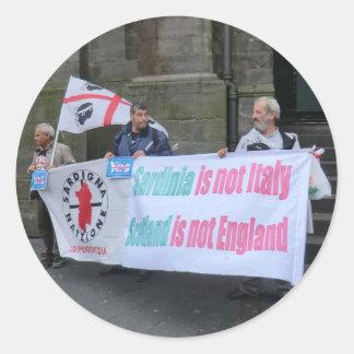 Paladines sardos de la independencia en Escocia Pegatina Redonda